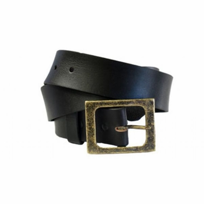 4155 Vintage Style Casual Full Grain Leather Belt - 1 1/2 wide