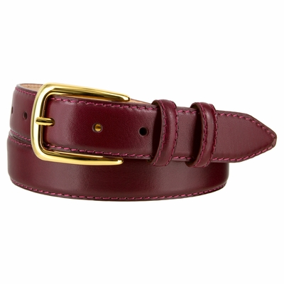 "4191 Italian Calfskin Dress Leather Belt - 1 1/8"" WIDE"