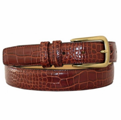 "4193 Calfskin Leather Dress Belt - 1 1/8"" wide"