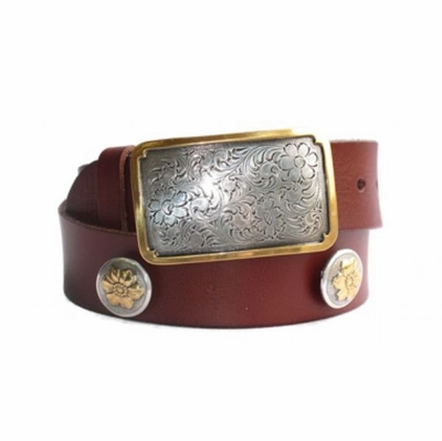 "4234 Women's Western Full Grain Leather Belt - 1 1/2"" wide"
