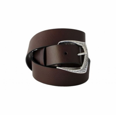 "4254 Casual Ful Grain Leather Belt - 1 1/2"" wide BROWN"