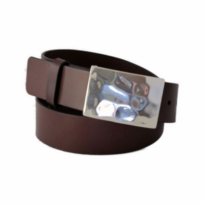 "4256 Casual Leather Belt - 1 1/2"" wide - Available in size 60"""