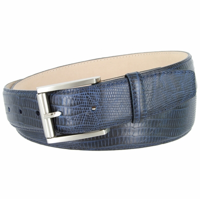 4276 Italian Calfskin Leather Dress Belt with Roller Buckle 1 3/8""