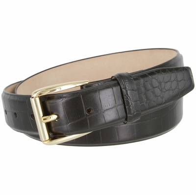 "4277 Italian Calfkin Leather Dress Belt - 1 3/8"" wide"