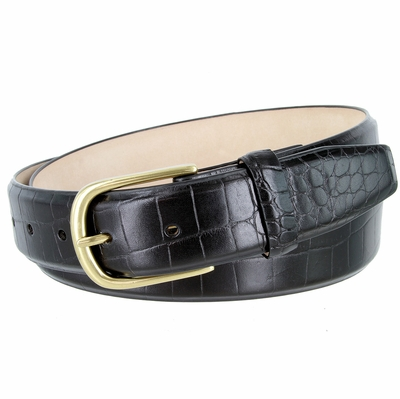 "4280 Italian Calfskin Leather Belt - 1 3/8"" Wide"