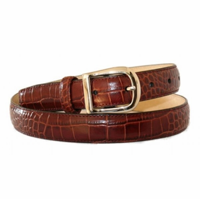 "4290 Dress Leather Belt - 1"" wide"