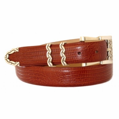 "4295 Italian Calfskin Leather Dress Belt - 1 /8"" wide Available in size 60"""