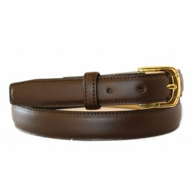 "4292 Italian Calfskin Leather Dress Belt - 1"" WIDE"