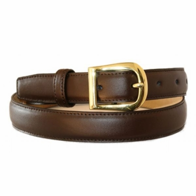 "4291 Italian Calfskin Smooth Leather Dress Belt - 1"" WIDE"