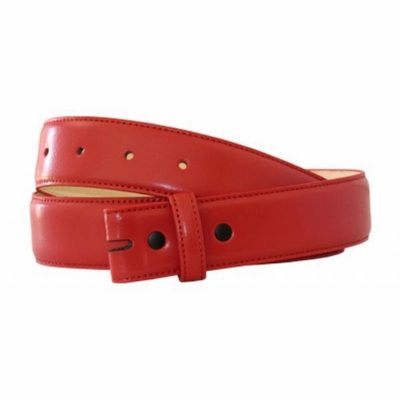 "4319 Calfskin Leather Belt Strap - 1 3/8"" RED"