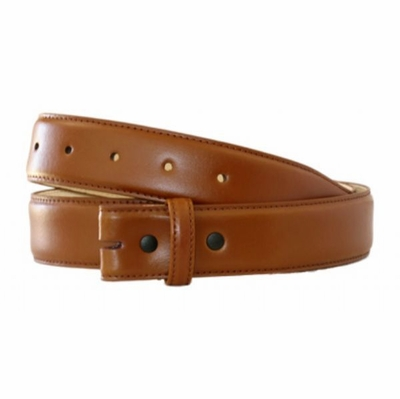 "4325 Smooth Genuine Leather Belt Strap - 1 3/8"" wide - Saddle Tan"