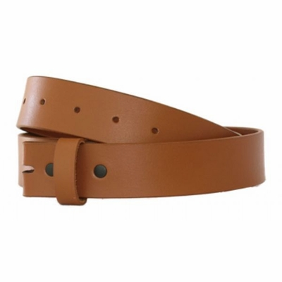 "4331 Smooth Full Grain Leather Belt Strap - 1 3/8"" wide"