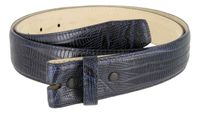 "4333 Genuine Italian Calf Skin Lizard Embossed Strap - 1 3/8"" wide NAVY"