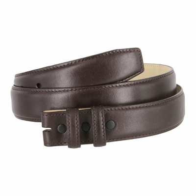 "4340 Smooth Genuine Leather Belt Strap - 1 1/4"" wide  BROWN"