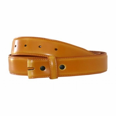 "4343 Calfskin Leather Smooth Belt Strap - 1 1/4"" wide TAN"