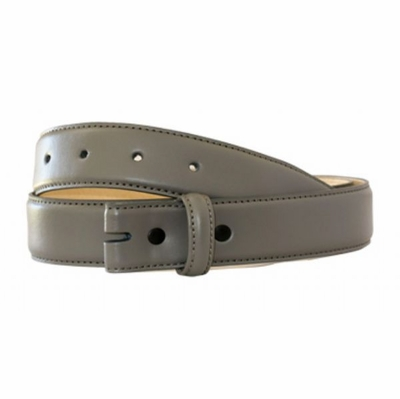 "4345 Calfskin Leather Belt Strap - 1 1/4"" wide - GRAY"