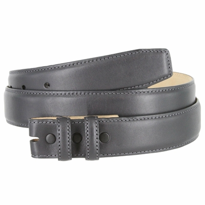 "4340 Smooth Genuine Leather Belt Strap - 1 1/4"" wide CHARCOAL-GRAY"