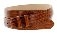 "4372 Lizard Grain Belt Strap - 1 1/8"" wide TAN"
