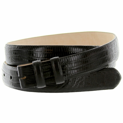 "4374 Lizard Grain Belt Strap - 1 1/8"" wide BLACK"