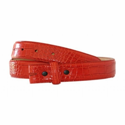 "4384 Alligator Grain Belt Strap - 1 1/8""  RED"