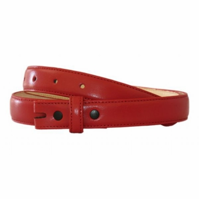"4389 Smooth Leather Belt Strap - 1"" wide RED"