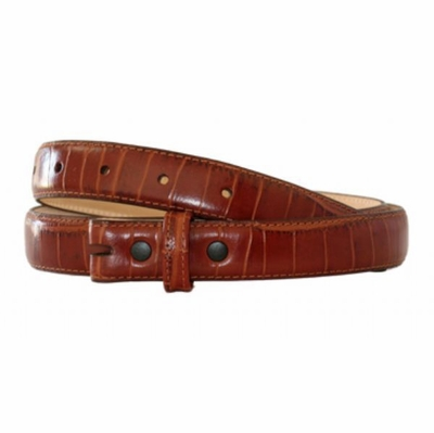 "4391 Alligator Embossed Cognac Color - 1 "" wide"