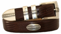 "4498 Italian Designer Leather Belt - 1 3/8"" wide"