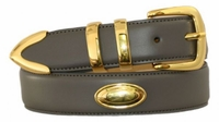 "4502 Calfskin Leather Dress Belt - 1 3/8"" wide"