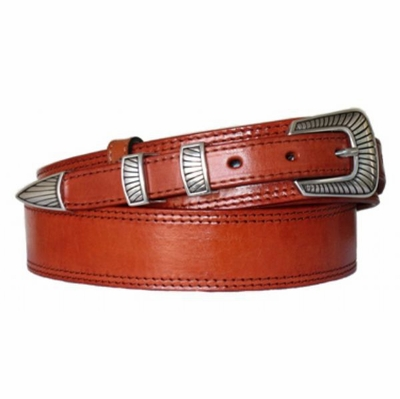 "4515 Traditional Full Grain Leather Ranger Belt - 1 1/2"" Wide - 3/4"" Billet"