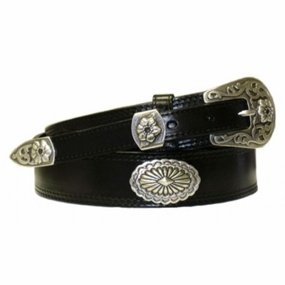 "4523 Ranger Full Grain Leather Belt - 1-3/8"" Wide - Billet 3/4"""