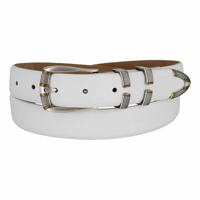 "4531 Fullerton Italian Calfskin Leather Belt - 1 1/8"" wide"