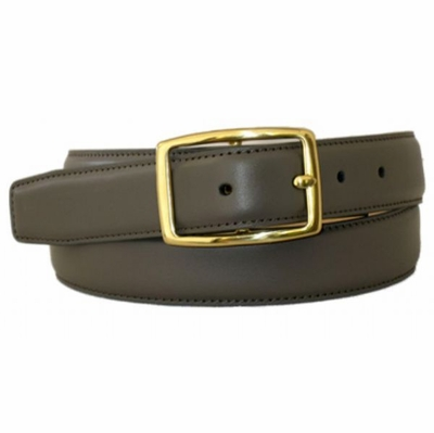 "4544 Calfskin Leather Center Bar Belt - 1 1/4"" wide"