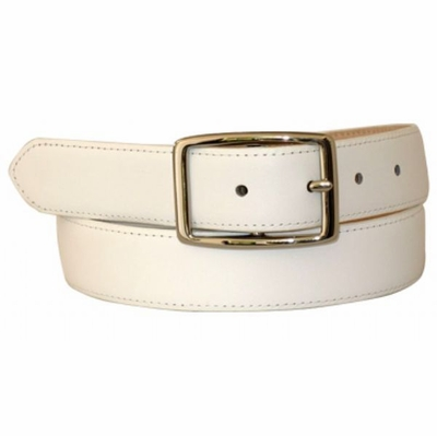 "4545 Center Bar Buckle Calfskin Leather Dress Belt - 1 1/4"" wide"