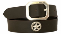 "4557 Casual Leather Conchos Belt - 1 1/2"" wide"