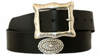 "4559 Southwestern Full Grain Leather Belt - 1 1/2"" wide"