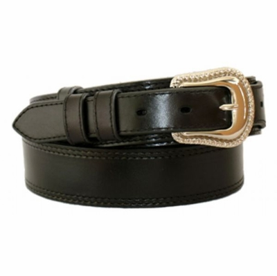 "4643 Traditional Smooth Ranger Leather Belt - 1 1/2"" - 1"" Wide"