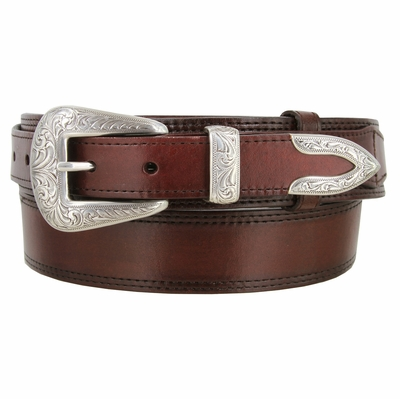 "4644 Traditional Smooth Western Ranger Full Grain Leather Belt - 1 1/2"" - Wide - Billet 1"""