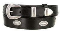 "4659  Traditional Ranger Full Grain Smooth Leather Belt - 1 1/2"" - Wide - Billet 1"""
