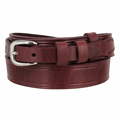 "4665 Handcrafted Ranger Solid Leather Belt - Custom Width For 3/4"" Buckle - AVAILABLE IN DIFFERENT COLORS - Made in U.S"