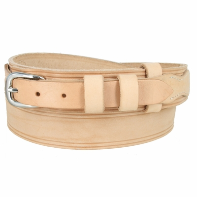 """4665XL Handcrafted Ranger Solid Leather Belt - Custom Width For 3/4"""" Buckle - AVAILABLE IN DIFFERENT COLORS - Made in U.S"""