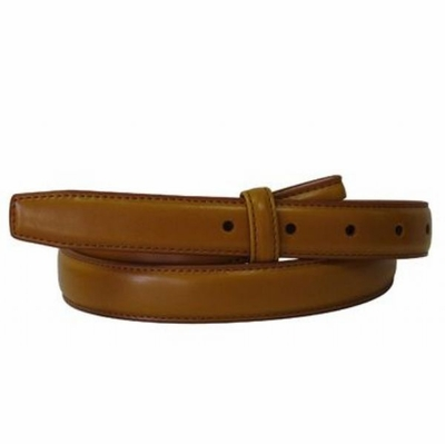 "4705 Tan Smooth Leather Belt Strap - 1"" wide"