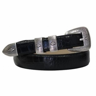 4711  Italian Calfskin Leather Dress Belt
