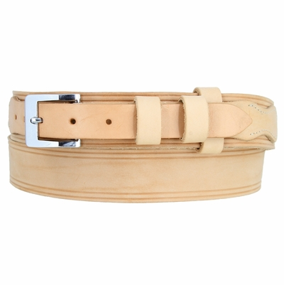 "5004 Handcrafted Ranger Solid Leather Belt - Custom Width For 1"" Buckle - AVAILABLE IN DIFFERENT COLORS - Made in U.S"