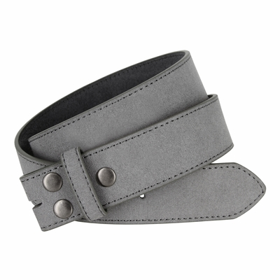 """5066 Gray Suede Leather Belt Strap 1 1/2"""" Wide"""