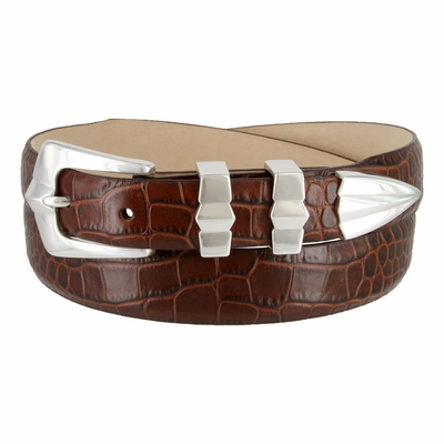 5502 Italian Calfskin Leather Dress Belt