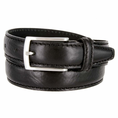 5549 Fullerton Men's Leather Casual Dress Belt Black