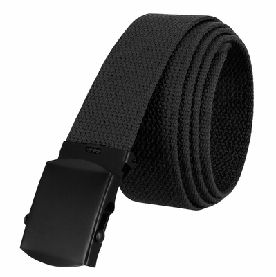 "5810 Military Belt Canvas, Black Finish Buckle Web Belt - One Size fits all - 1-1/2"" Wide - BLACK"