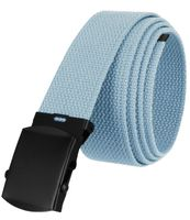 """5810 Military Belt Canvas, Black Finish Buckle Web Belt - One Size fits all - 1-1/2"""" Wide - BLUE"""