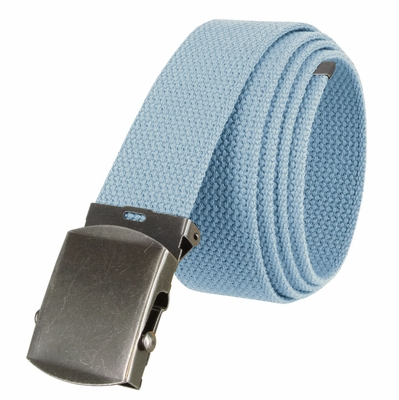 "5811 Military Belt Canvas, Antique Finish Buckle Web Belt - One Size fits all - 1-1/2"" Wide - BLUE"