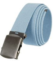 """5811 Military Belt Canvas, Antique Finish Buckle Web Belt - One Size fits all - 1-1/2"""" Wide - BLUE"""